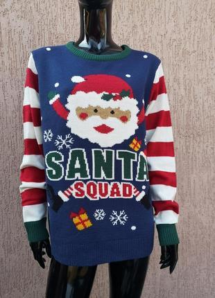 Светр новорічний свитер новогодний санта