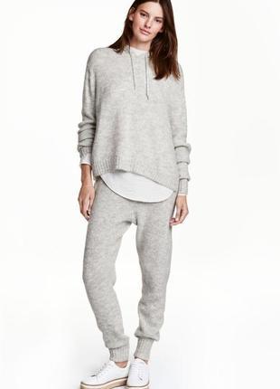 Вязаные штаны/брюки, теплые, вязаные джоггеры h&m размер