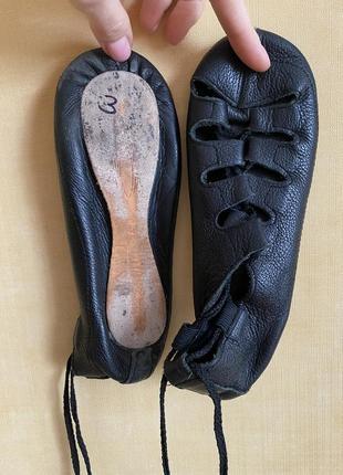 Кожаные чешки для танцев (18 см)5 фото