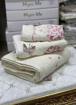 Набор махровых полотенец 🦋