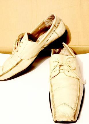 Итальянские мягкие кожаные туфли