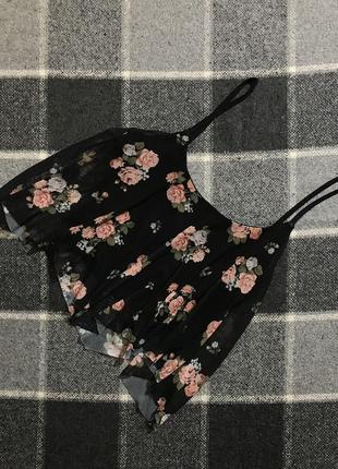 Женский топ (майка) в цветочный принт new look (нью лук м-лрр идеал оригинал разноцветный)