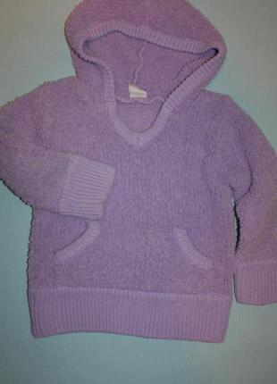 Стильненький фирменный супер-мягкий теплый свитер на девочку 5-6лет р-116