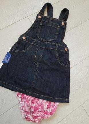 Комбінезон-сукня джинсовий lupilu германія 86 (12-18міс)
