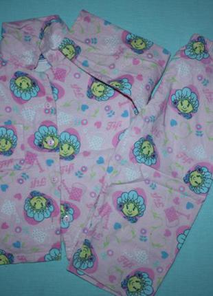 Пижама байковая красивая из мультика floverstots fifi 12-18 мес в отличном состоянии