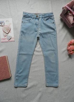 Голубые джинсы skinny