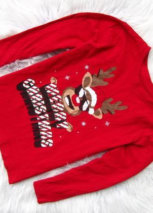 Стильный  кофта свитшот primark новогодний олень новый год