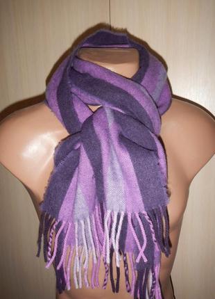 Шерстяной шарф кашне gant 100% шерсть шотландия