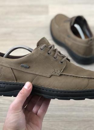 Timberland waterproof шкіряні демісезонні туфлі кросівки оригінал