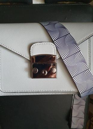 Кожаная сумка с 2 ремнями