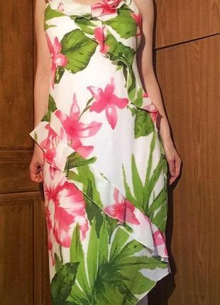 Платье с рюшами,воланами,с цветами,в цветы,сарафан на лето