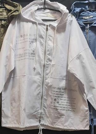 Бомбезная котоновая ветровка,куртка, размер 5 хл.