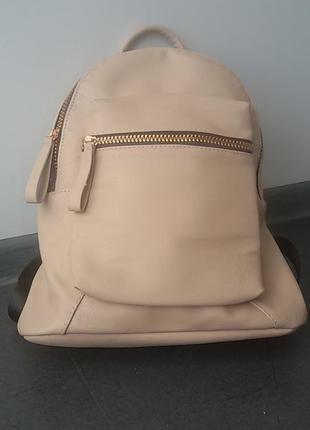 Городской рюкзак пудрового цвета