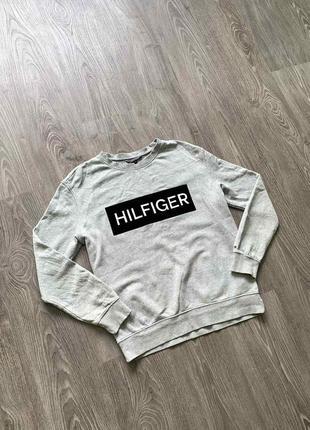 Женский свитшот/кофта tommy hilfiger big logo!