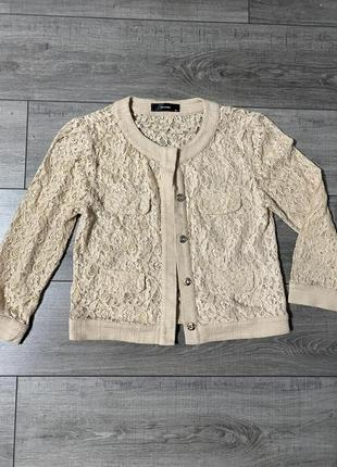 Ажурный кружевной пиджак  жакет hallhuber