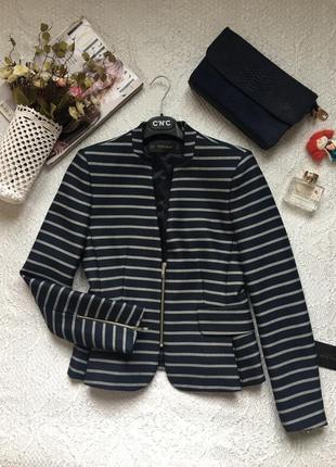 Новое! элегантный классический пиджак, жакет в полоску /zara/ размер m