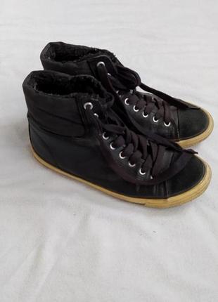 Утепленные кеды на стопу 24 - 24.5 см, р-р 38, кроссовки на меху