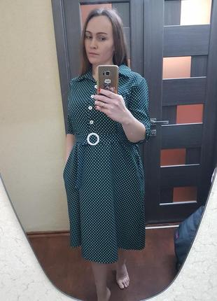 Платье бутылочного цвета!
