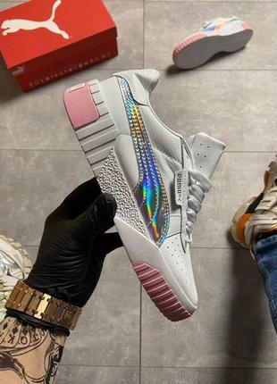 Кроссовки puma cali pink silver.