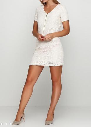 Кружевное кремовое платье la redoute