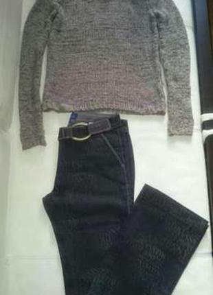 Комплект джинсы trussardi оригинал свитер oysho новый