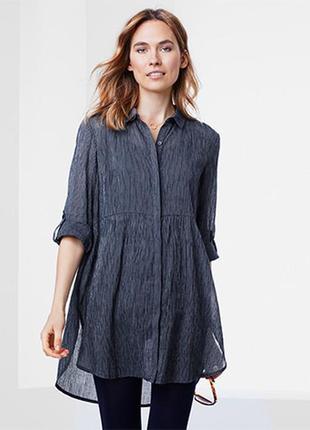 Хлопковая блуза-туника в полоску tcm tchibo
