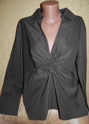 Оригинальная стрейчевая блуза пог 56-59 см 66 % котон и много всего другого