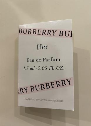 Новый пробник burberry her