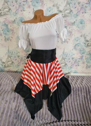 Платье пиратки разбойница карнавальный костюм