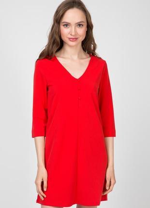 Красное платье свободного кроя terranova