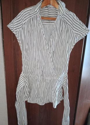 Блуза с длинным поясом