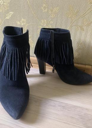 Ботинки ботильоны замш кожа