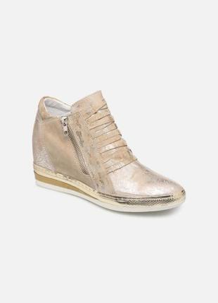 100% кожаные из натуральной кожи кеды сникерсы кроссовки на молнии khrio