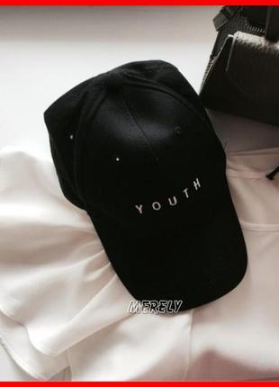Скидка бейсболка youth кепка черная \ розовая молодость тренд 2021