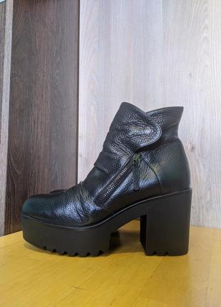 Ботинки туфли итальянские кожаные albano