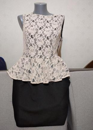 Трикотажное миди платье кружево redherring uk16, евро 44, наш 48/50