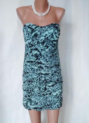 Ostin новое мятное платье с узором