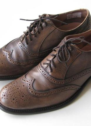 Классические кожаные туфли броги soviet р.42
