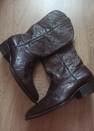 Байкерские ковбойские ботинки из натуральной кожи р.43