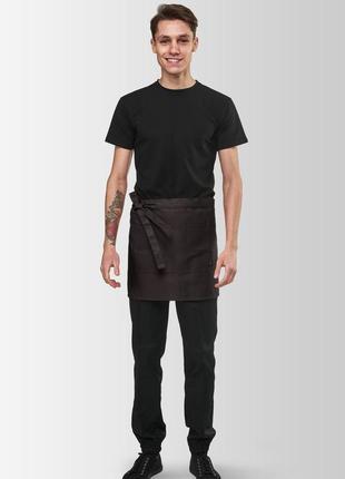 Фартухи на пояс для офіціантів vsetex berry коричневий  |фартуки