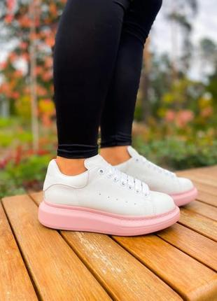 Женские кроссовки alexander mcqueen pink comb наложка