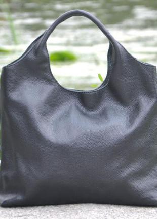 Кожаная женская сумка хобо ницца