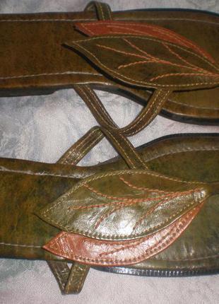39 -25.5 см   кожаные  шлепанцы  размер  39