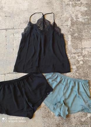 Пижама h&m тройка майка и шортики