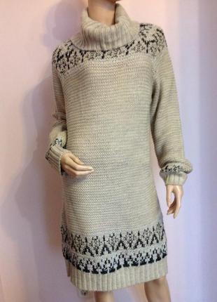 Фирменное трикотажное платье- туника-гольф /l/ brend moddison