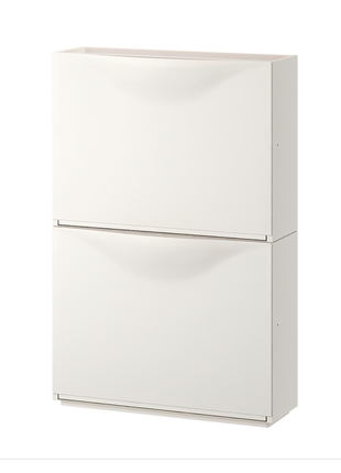 Галошница/шкаф, белый, 52x39 см