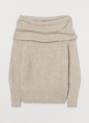 Женский свитер с открытыми плечами