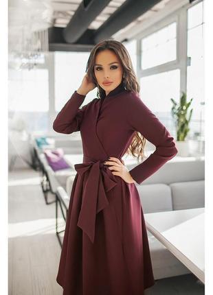 Платье с пышной юбкой демисезонное