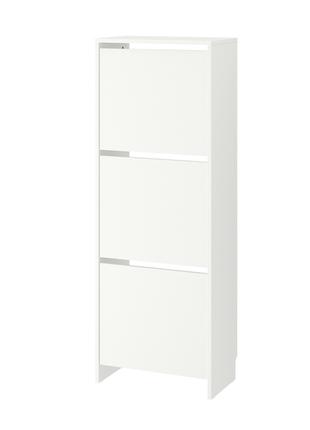 Галошница,3 отделения, белый, 49x135 см