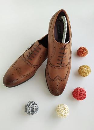 Кожаные туфли - броги  с перфорацией по всей длинне